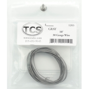 TCS 10 FT GRAY 1203 #30 DECODER WIRE