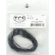 TCS 10 FT BLACK w WHITE STRIPE 1523 #32 DECODER WIRE