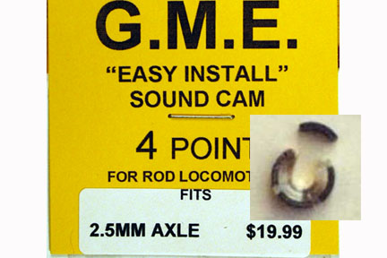 GME CAM 2.5MM AXLE