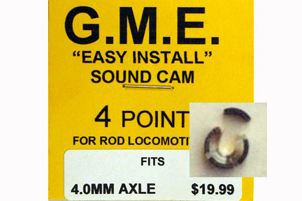 GME CAM 4 MM AXLE