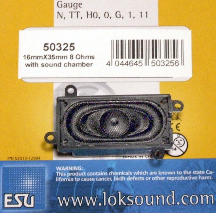 LOKSOUND 50325 16 X 35 SPEAKER AND ENCLOSURE 8 OHM