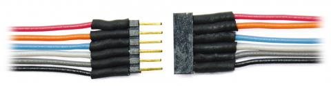 TCS 1477 6 PIN MICRO CONNECTOR COLORED WIRES