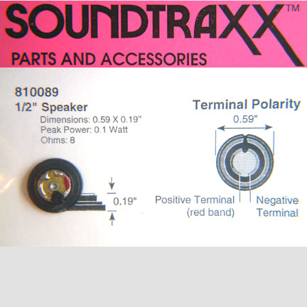 SOUNDTRAXX  810089 15mm Round Speaker