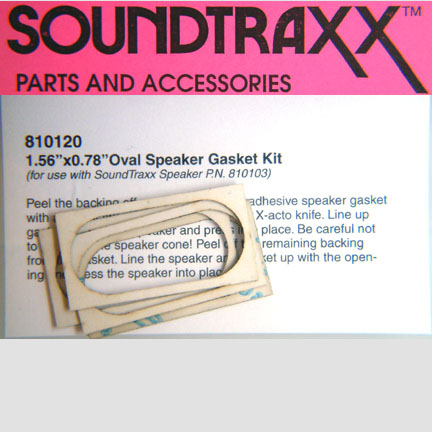 SOUNDTRAXX 810120 20 X 40 mm Oval Speaker Gasket Kit
