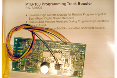 PTB-100 PROGRAMMING TRACK BOOSTER